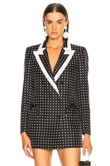 Oh La La Polka Dot Everyday Double Breasted Blazer