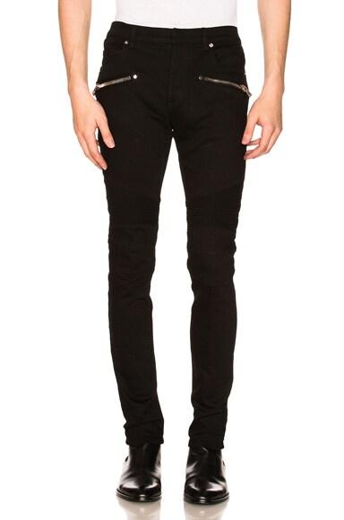 7 Pocket Biker Jeans