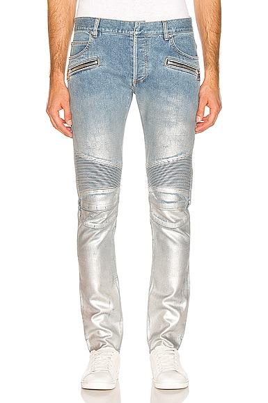 Slim Ribbed Zip Pocket Jean