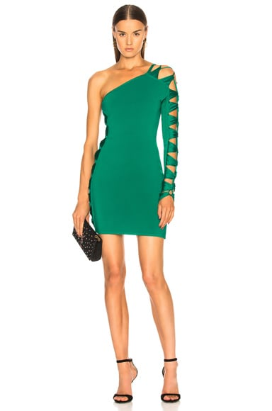 Cutout Banded One Shoulder Mini Dress