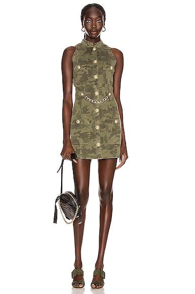 Short Sleeve Camouflage Denim Dress
