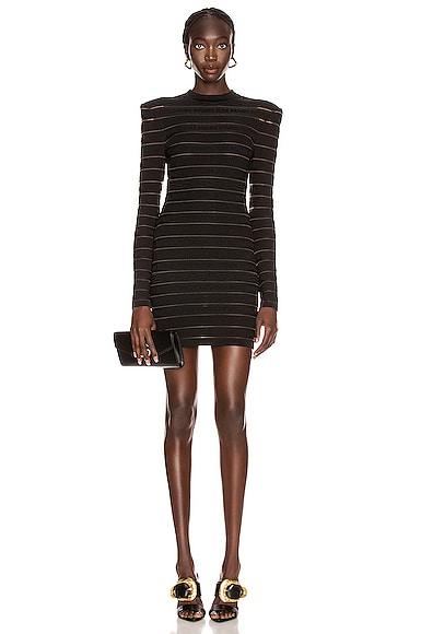 Short Logo Stripe Dress