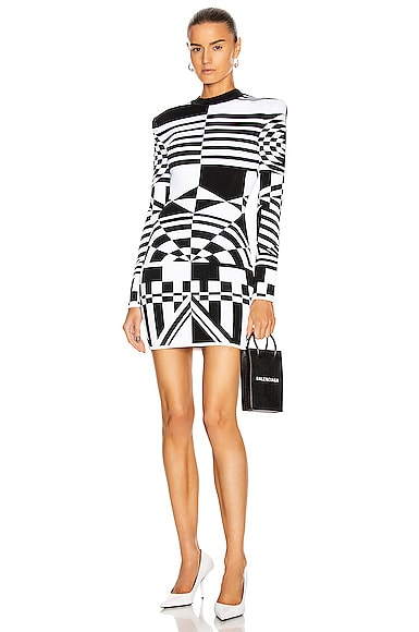 Long Sleeve Jacquard Dress