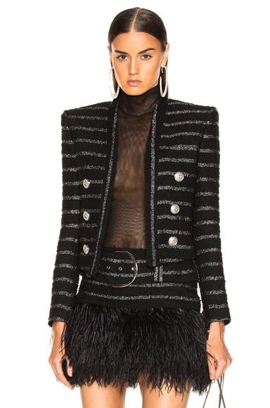 Tweed Stripe Blazer