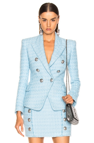 Six Button Tailored Blazer