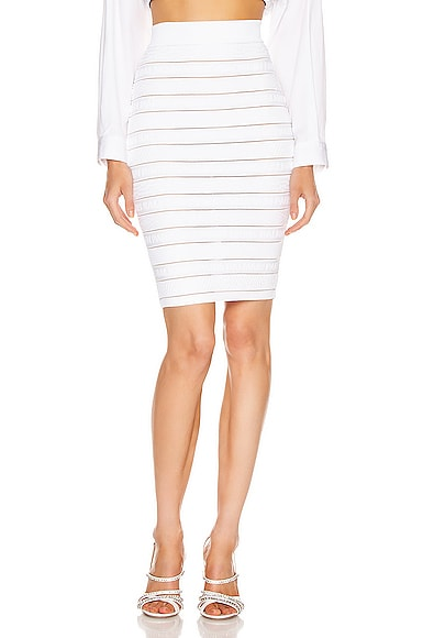 High Waist Logo Stripe Skirt