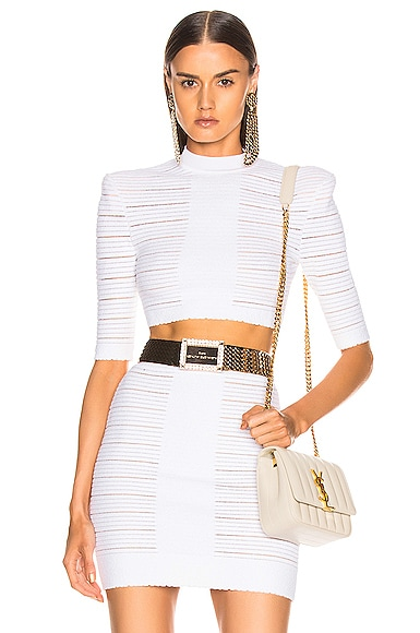 Medical Stripe Crop Top
