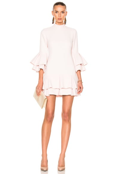 Ruffle Hem Mini Dress