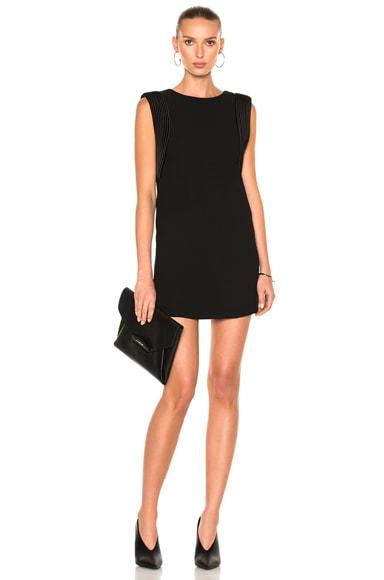 Sleeveless Piped Arm Mini Dress