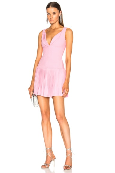 Sweetheart Pintucked Tennis Dress
