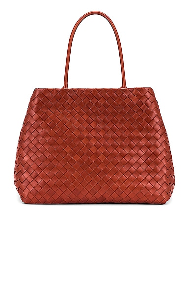 Leather Woven Tote