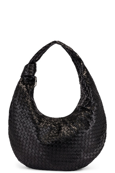 Maxi Woven Shoulder Hobo Bag