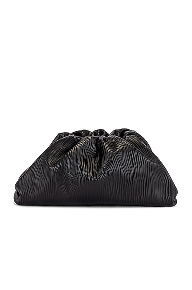 Leather Bark Pouch Clutch