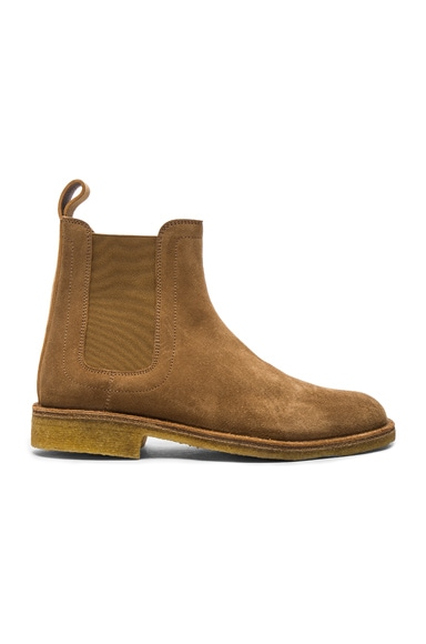 Suede Chelsea Boots in New Camel