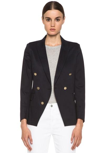 Stretch Cotton Sateen Captain's Jacket