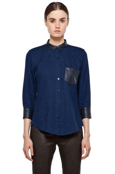 Boy Easy Shirt with Leather Pocket