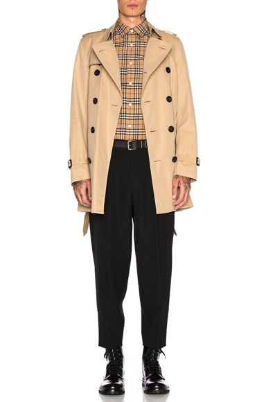 Heritage Modern Fit Mid Length Trench