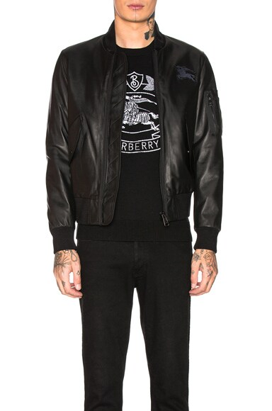 Sandford Leather Bomber Jacket