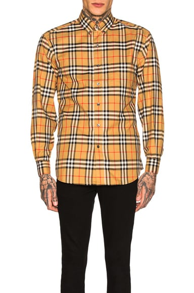 Long Sleeve Vintage Check Shirt
