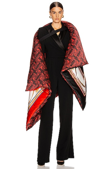 Monogram Printed Oversized Cape