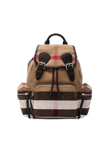 Medium Canvas Check Rucksack