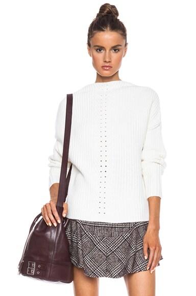 Pearled Rib Knit Sweater