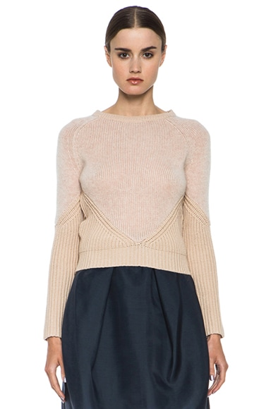 Contrasted Knit Sweater
