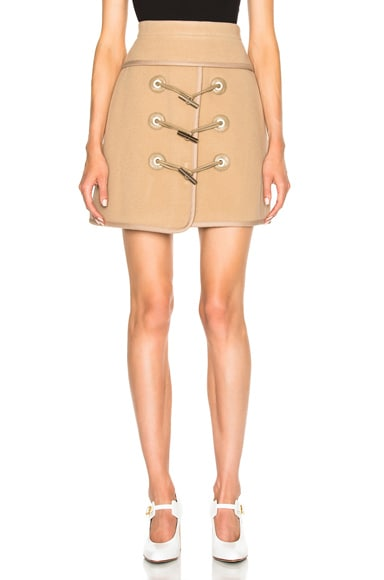 Toggle Mini Skirt in Camel