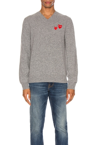 Multi Heart Pullover Sweater