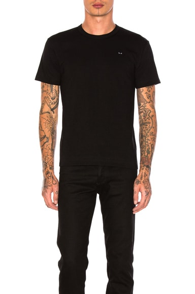 Small Black Emblem Cotton Tee