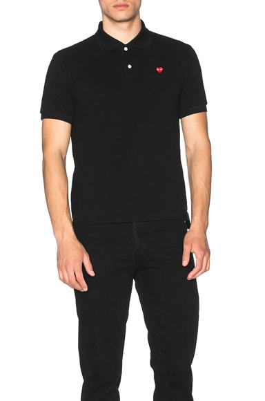 Small Red Emblem Cotton Polo
