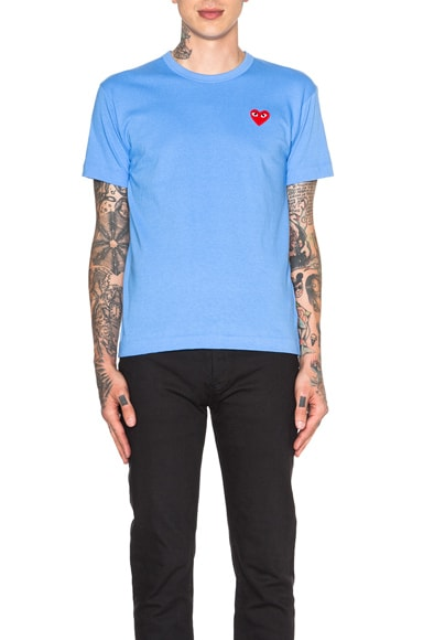 Red Emblem Cotton Tee