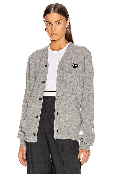 Wool Black Heart Emblem Cardigan