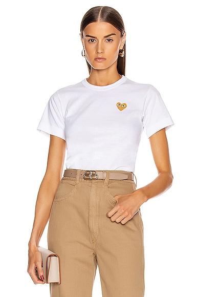 Gold Heart Emblem Tee