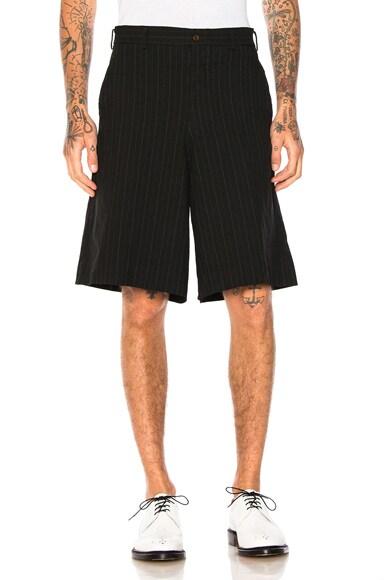 Ester Serge Mottled Stripe Shorts
