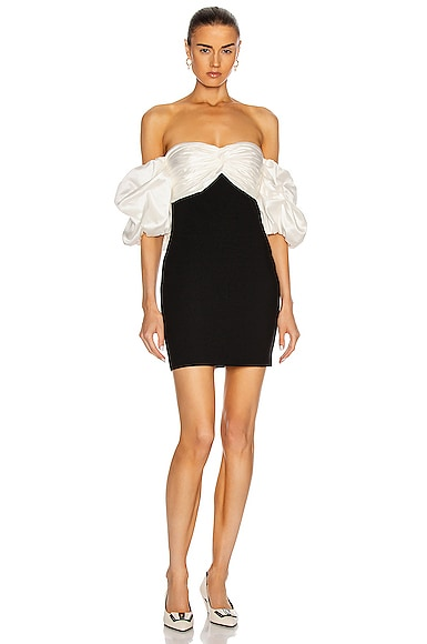 Cinq a Sept Teagan Dress in Black & Ivory | FWRD
