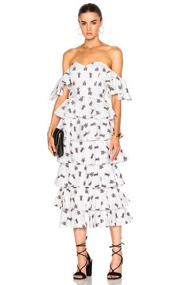 Irene Ruffle Dress
