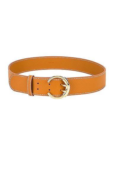 Grained Calfskin Belt
