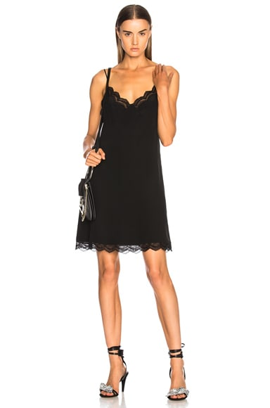 Parachute Silk Lace Trim Slip Dress