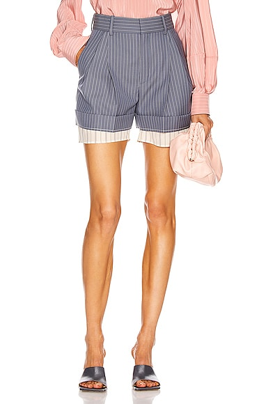 Pinstripe Tailored Short