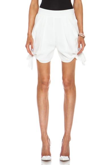 Light Cady Acetate-Blend Tie Shorts