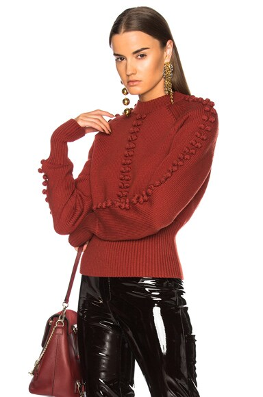 Bobble Knit Crew Neck Sweater