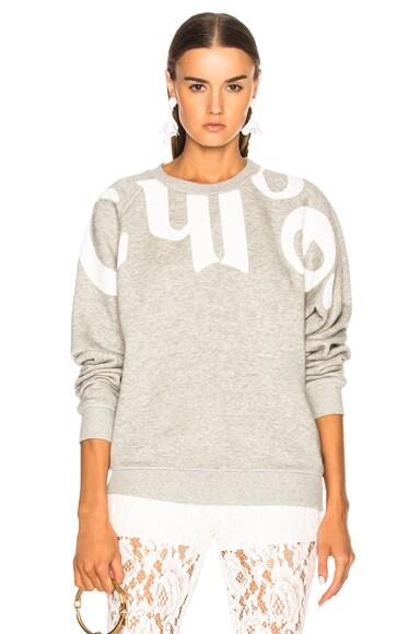 Cotton Fleece Graphic Sweatshirt