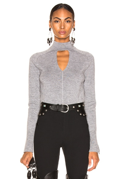 Cutout Choker Sweater