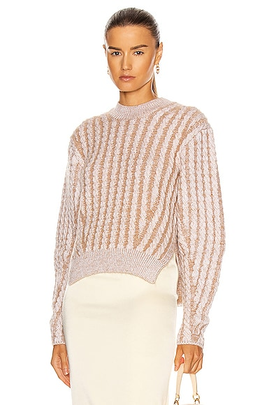 Chloé FLUFFY CABLE KNIT SWEATER