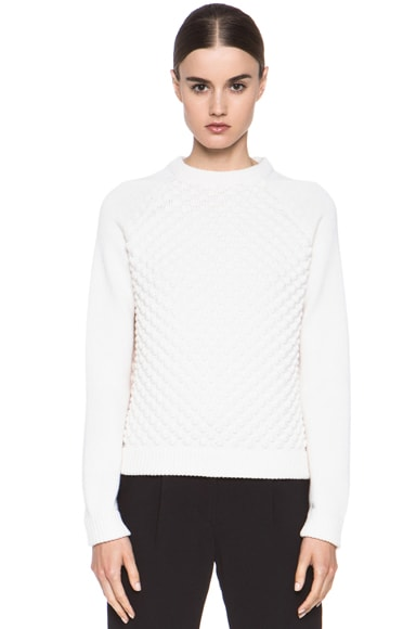 Bubble Knit Wool Pullover Sweater