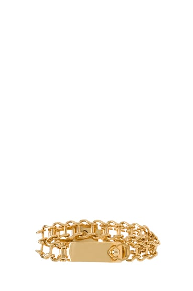 Bessie Brass Double Bracelet