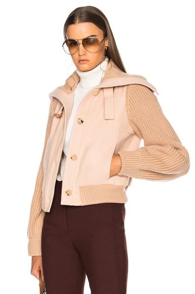 Soft Brushed Wool Bomber Jacket