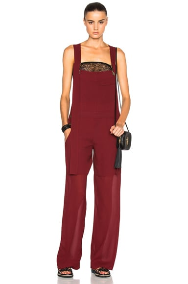 Fine Sheer Crepe Jumpsuit