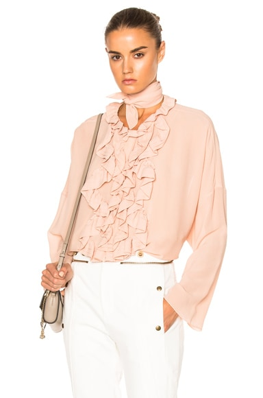 Silk Georgette Blouse en Tender Pink